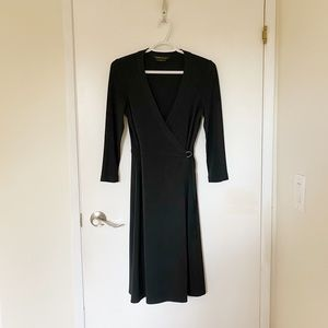 Dresses & Skirts - BCBG XS black wrap dress